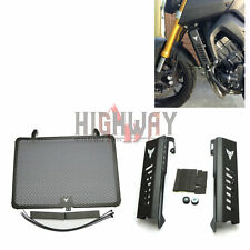 New Radiator Grille Grill Cover Protector Guard+Side Guard Fit YAMAHA MT09 FZ09