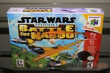 Star Wars: Battle for Naboo (Nintendo 64, N64 2000) SEALED! - EXCELLENT! - RARE!
