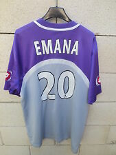 VINTAGE Maillot TOULOUSE TFC Lotto SUD RADIO EMANA n°20 football shirt trikot L