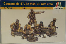ARMY : CANNONE DA 47/32 MOD.39 WITH CREW 1/35 SCALE ITALERI MODEL KIT