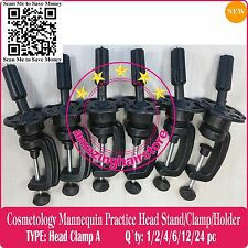 6X-Display Head Stand Training Mannequin Practice Head Holder/Head Clamp Holders