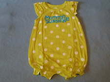 Carter's Gorgepus Little Girls 'Mommy's Sunshine' Romper, Size 6 Months