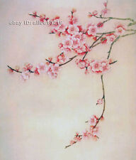 """Chinese natural mulberry silk thread,su hand embroidery kits:plum flower 9"""""""