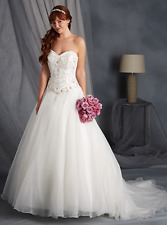 NWT Alfred Angelo 2450 wedding dress white 18w Beaded Sweetheart Neckline $750