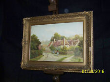 George Oyston Listed Artist Original Landscape Painting Signed & Dated c1920