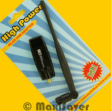 300 Mbit/s WLAN Stick USB N-Draft Wireless N Adapter Dongle SMA RP-SMA + ANTENNE