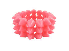 SWEET PINK CYBER SPIKE BRACELET SPIKED STUDDED ROCK GOTH PUNK EMO CANDY RAVE