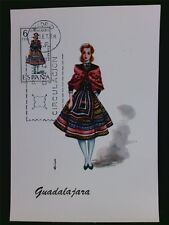 SPAIN MK 1968 COSTUMES GUADALAJARA TRACHTEN MAXIMUMKARTE MAXIMUM CARD MC c6026