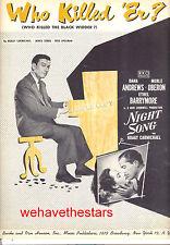"""NIGHT SONG Sheet Music """"Who Killed 'Er?"""" Hoagy Carmichael Merle Oberon"""