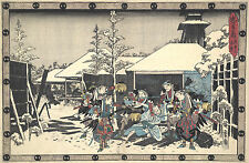 Japanese Art: The Loyal League of 47 Ronin - Night Attack: Fine Art Print