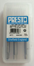 """Presto UK 1/4"""" x 28tpi HSS UNF Set of 3 taps / Direct from RDGTools"""