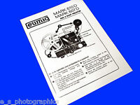 EUMIG 610D 607D 8mm Cine Projector Instruction Book