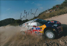Sebastien LOEB SIGNED AUTOGRAPH 12x8 Photo AFTAL COA CITROEN WRC CAR Leon Mexico