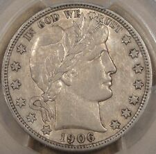 1906-D Barber Half Dollar PCGS XF-45 AU on another Day!