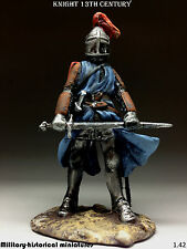 Tin soldiers 54 mm Knight 13th century HAND PAINTED