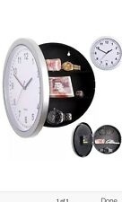 Secret Wall Clock Home Safe Valuables Money Box Stash Cash Jewellery Gold
