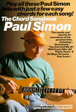 Paul Simon The Chord Songbook Learn to Play Pop Guitar Lyrics Music Book