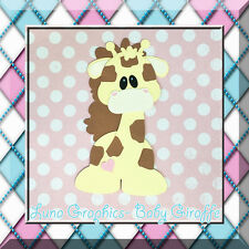 BABY GIRAFFE Paper Piecing card making and scrapbooking NOT FOR RESALE