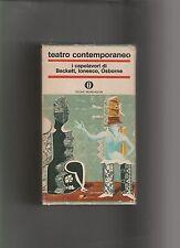 TEATRO CONTEMPORANEO i capolavori di Beckett Ionesco Osborne MONDADORI 3 VOLL.