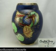 Very Rare Carlton Ware Art Deco Luster Vase with Waterlily & Birds Pattern 3529
