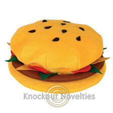 Hamburger Hat Burger Cheeseburger Head Cap Costume Holloween Aaccessory Party