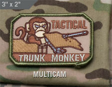Mil-Spec Monkey TACTICAL TRUNK MONKEY morale patch Velcro back MULTICAM