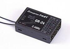 Graupner 33512 GR-24 HoTT Empfänger für 12 Servos, 2,4 GHz, telemetriefähig