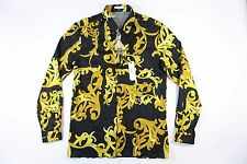 VERSACE COLLECTION TREND ITALY BAROQUE 16.5 42 SATIN BUTTON DOWN SHIRT MENS NWT
