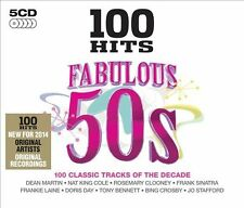 100 Hits: Fabulous '50s by Various Artists (CD, Feb-2014, 5 Discs, 100 Hits)