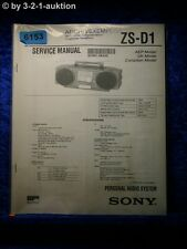 Sony Service Manual ZS D1 Audio System (#6153)