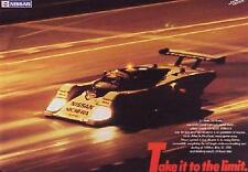 """Factory Nissan 24hr Le Mans 1986 """" Take it to the Limit"""" Car Poster Rare! WOW"""