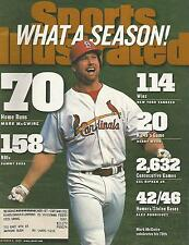 ST LOUIS CARDINALS MARK MCGWIRE 1998 SPORTS ILLUSTRATED 12X ALL STAR 583 HR'S 70