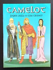 Camelot Paper Doll Book by Tom Tierney, 16 Pgs, 2002, Uncut, King Arthur