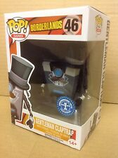 FUNKO POP! Games Borderlands Gentleman Claptrap #46 Exclusive Vinyl Figure *New*