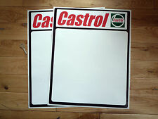 CASTROL DOOR PANEL Race Car STICKERS 400x500mm Pair Rally Racing Vinyl Decal New