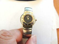 "Vintage ""Terner"" Ladies Black Face Quartz Working Watch With Free US Shipping"