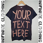 Tie Dye Acid wash CUSTOM make your own text personalised Hipster t shirt top