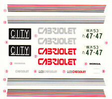 TAMIYA Decal 24050 1/24 Honda City Cabriolet