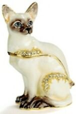 Siamese Cat - Kubla Crafts Trinket Box MIB -Enameled Peweter - BEAUTIFUL!  #3221