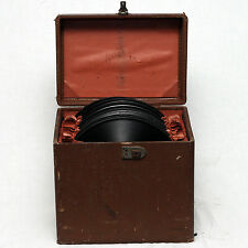 Vintage Vinyl Record Box Carry Case Carrier Antique W/ Old LP Records included