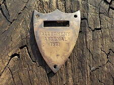 Old Rare Vintage Antique Civil War Relic Allegheny Arsenal 1861 Saddle Tag