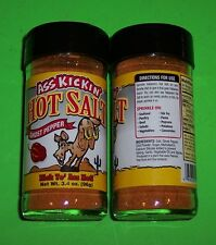 ASS KICKIN' HOT SALT GHOST PEPPER SEASONING,3.4 OZ  SPICE JAR, SPICY AND SALTY