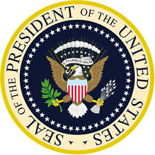 "PRESIDENTIAL SEAL ROUND GLOSSY STICKERS  1.5"" x 1.5"" SHEET OF 3 STICKERS"