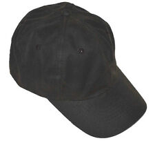 Polo Style Adjustable Low-profile Baseball Cap Oil Cloth Water Repellent-brown