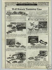 1937 PAPER AD Buck Rogers Tootsietoy Zeppelin Cars Planes Trucks Merry Go Round