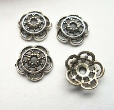 100pcs Tibet silver Flower End Beads Caps 10x3 mm