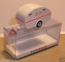 MICRO TOY EKO TOYEKO HO 1/86 1/87 MADE SPAIN CARAVANE BLANCHE FILET RED REF2022