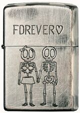 New Zippo Funny Skull Forever Love Vintage Feeling Japan Limited F/S Oil Lighter