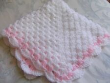 "Hand Crochet Dolls/Baby Carrier blanket/ cover, approx 18"" x 18"""