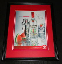 2008 Bacardi Grand Melon Rum Framed 11x14 ORIGINAL Advertisement
